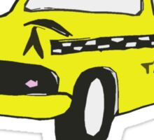 Cute Yellow Cab Sticker