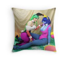 Easter darkstalkers OMG Throw Pillow