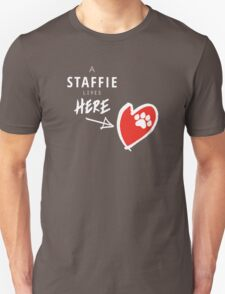 A Staffie Lives Here T-Shirt