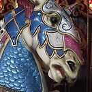 Unicorn warrior carousel horse by endomental Artistry