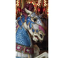 Unicorn warrior carousel horse Photographic Print