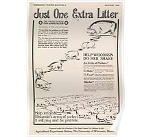 United States Department of Agriculture Poster 0280 Just One Extra Litter Help Increase Wisconson's Army of Porkers Poster