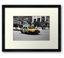 Chicago yellow cab Framed Print