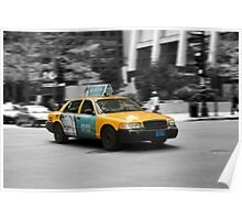 Chicago yellow cab Poster