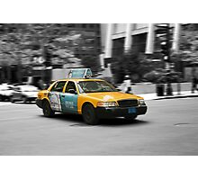 Chicago yellow cab Photographic Print