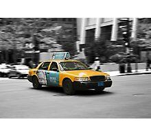 Chicago yellow cab Photographic Print