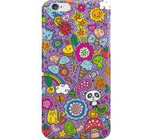 Doodle Animal World iPhone Case/Skin
