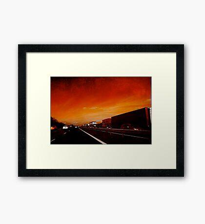 Red Jam Framed Print