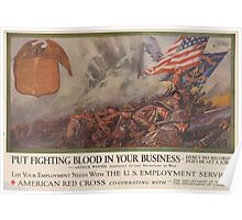 United States Department of Agriculture Poster 0126 Put Fighting Blood in Your Business Poster