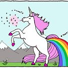 Unicorns sneeze glitter and fart rainbows! by Immy