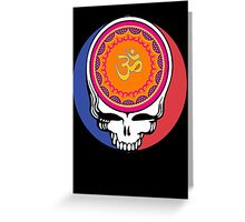 Grateful Dead Om Your Face Greeting Card