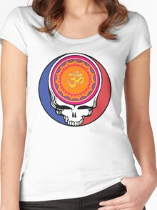 Grateful Dead Om Your Face Women's Fitted Scoop T-Shirt