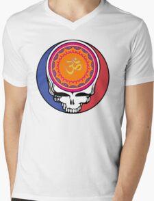 Grateful Dead Om Your Face Mens V-Neck T-Shirt