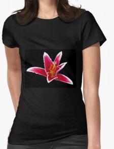 Stargazer Lily on Black Backgrund T-Shirt