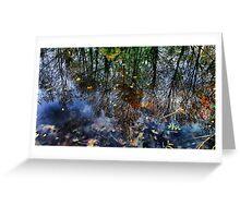 Reflected Glory - Lakeside in Buckinghamshire Greeting Card