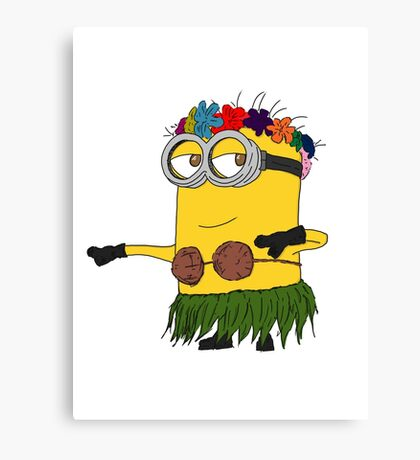Hawai Minion ! Canvas Print