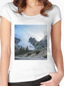 Mountains & Clouds Women's Fitted Scoop T-Shirt