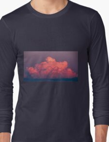 clouds in the sky at sunset colored rose Long Sleeve T-Shirt