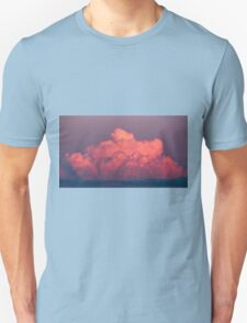 clouds in the sky at sunset colored rose T-Shirt