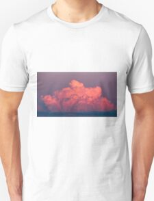 clouds in the sky at sunset colored rose Unisex T-Shirt