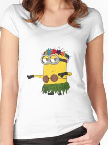 Hawai Minion ! Women's Fitted Scoop T-Shirt