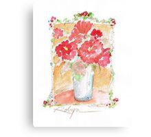 Fleurs Pour Yolanda Canvas Print