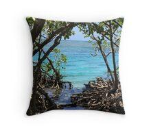 Caribbean mangroves Throw Pillow