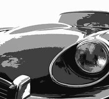 E Type Jaguar by Sharon Poulton