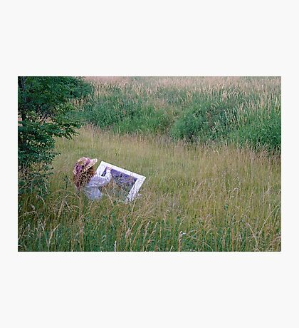 A Lady Artist Sketching Photographic Print
