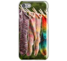Nova Scotia Hand Knitted Socks iPhone Case/Skin