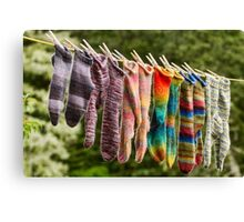 Nova Scotia Hand Knitted Socks Canvas Print
