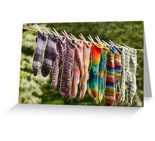 Nova Scotia Hand Knitted Socks Greeting Card