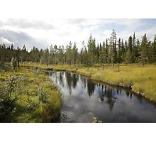 River in northern Sweden Photographic Print