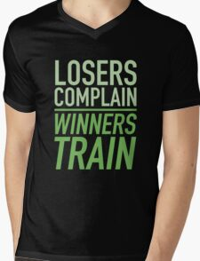 Losers Complain Winners Train Mens V-Neck T-Shirt