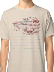 Known Language Writing Person Classic T-Shirt