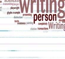 Known Language Writing Person Sticker