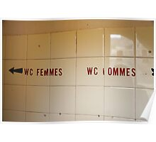 WC Femmes WC Hommes Poster