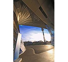 BMW Museum - entrance and Olympia tower Photographic Print