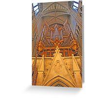 Great West Organ, Lancing College Chapel Greeting Card