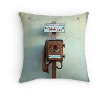 Telephone d'alarme Throw Pillow