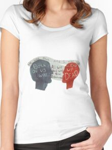 Love is Dead & So are We Women's Fitted Scoop T-Shirt