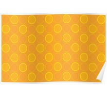 Beautiful Cushions/Extreme polka dot/ Orange and Yellow Poster