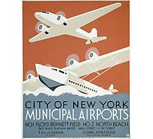 WPA United States Government Work Project Administration Poster 0339 New York City Municipal Airports Photographic Print
