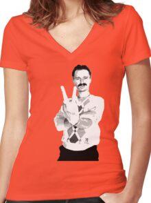 Trainspotting - Begbie Women's Fitted V-Neck T-Shirt