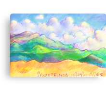 The Magical Mountains of Santa Fe Canvas Print