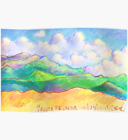 The Magical Mountains of Santa Fe Poster