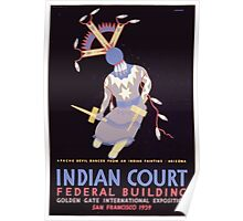 WPA United States Government Work Project Administration Poster 0408 Indian Court Apache Devil Dancer Golden Gate International Exposition Poster