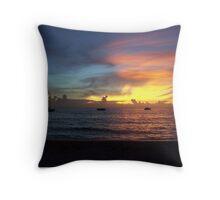 Purple Sunset in Jamaica Throw Pillow