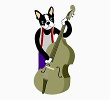 Boston Terrier Upright  Bass Player Unisex T-Shirt