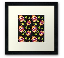 decorative houses 8 bit Framed Print